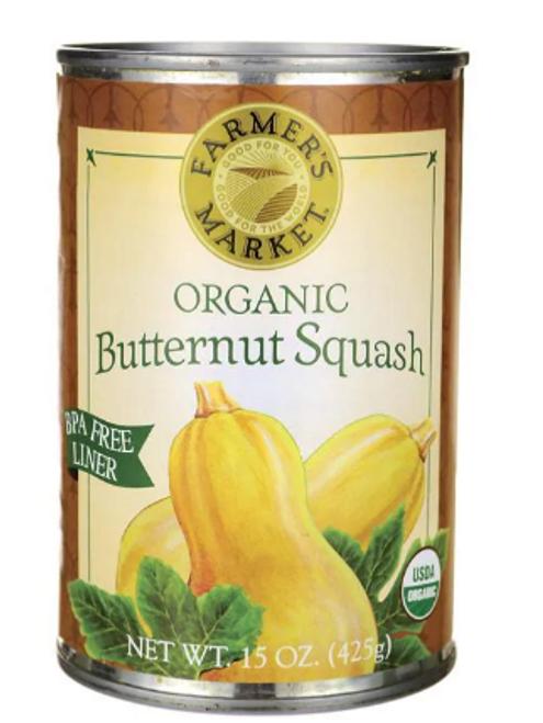 BUTTERNUT SQUASH PUREE, Organic Farmer's Market, 15 oz can *SALE* Reg. $3.39