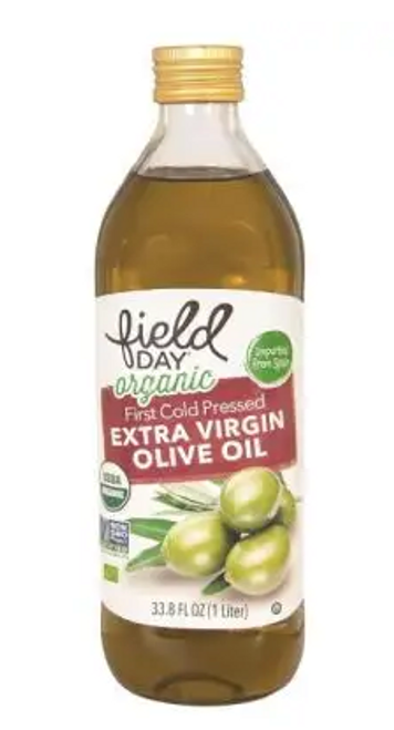OLIVE OIL, Organic, Extra Virgin, Field Day, 33.8 fl oz (1 liter)