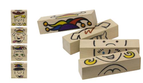 BLOCK SET, FLIP FACES FOR KIDS, Maple Landmark - 1 set