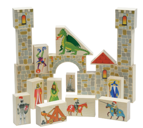 BLOCKS, CASTLE SET, Maple Landmark - 21 piece set
