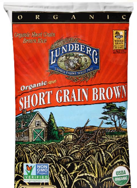 RICE, SHORT BROWN RICE, Organic,  Lundberg - 10 lbs
