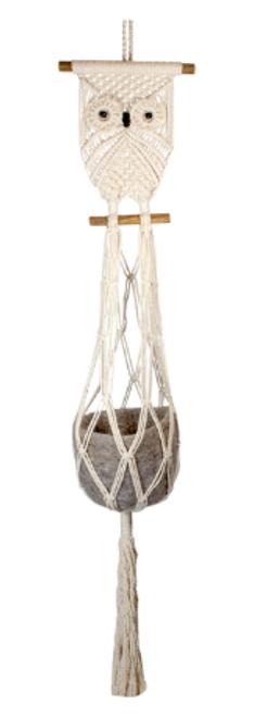 Plant Hanger, OWL, Macrame Cotton, Tibet Collection