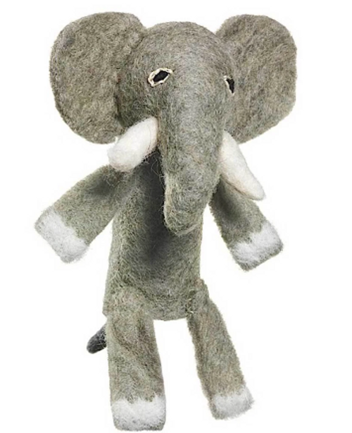 FINGER PUPPET/ORNAMENT, FELT ELEPHANT