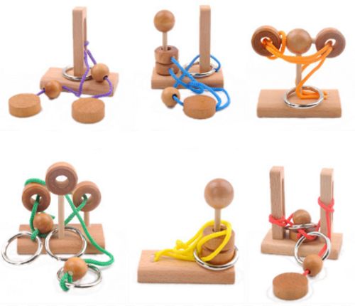 PUZZLES, Challenging Mini Rope Puzzles - 3 Levels