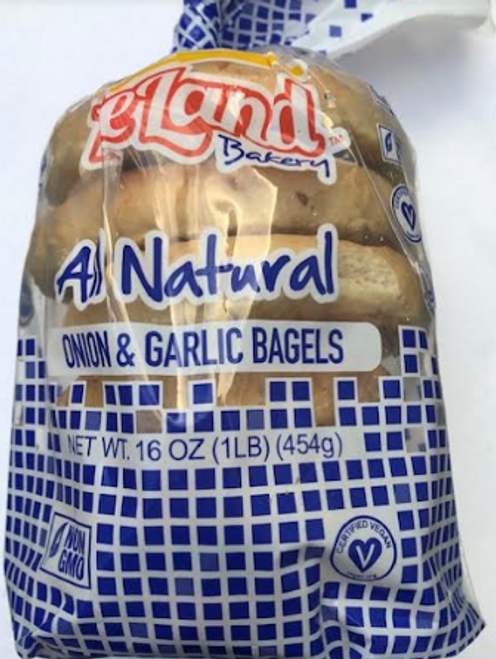 BAGELS, MILLET- ONION & GARLIC, Deland Bread, 16 OZ