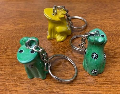 KEY RING, SOAPSTONE FROG Keychain, Key chain