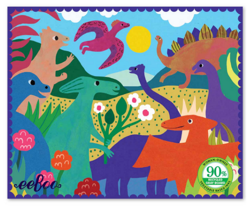 MINI PUZZLE, DINOSAURS IN THE PARK, Eeboo - 36 pieces