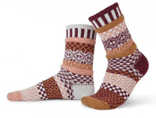 SOCKS, CREW SOCKS, MEDIUM AMARANTH, Solmate Socks 1 pair