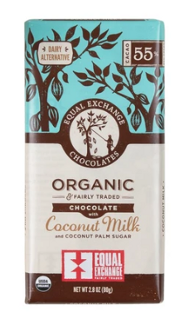 *NEW* BAR, CHOCOLATE, COCONUT MILK, Organic, Equal Exchange, 2.8 OZ