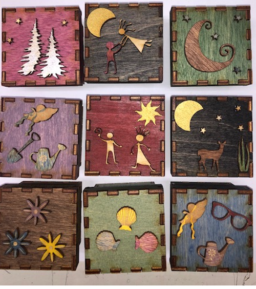 TINY TREASURE BOX, WOODEN, Handcrafted in Maine