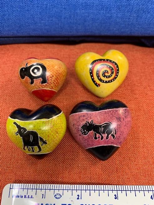SOAPSTONE HEARTS, Small and Tiny, Fair-Trade Kenya - Each