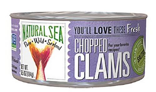 CLAMS, CHOPPED WILD, Natural Sea - 6.5 OZ can