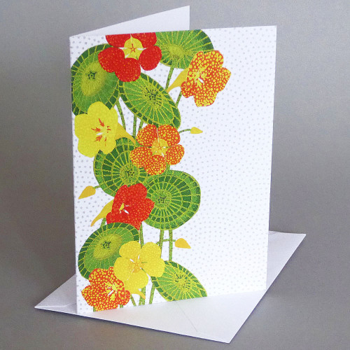 Card Nasturtiums Carve Designs