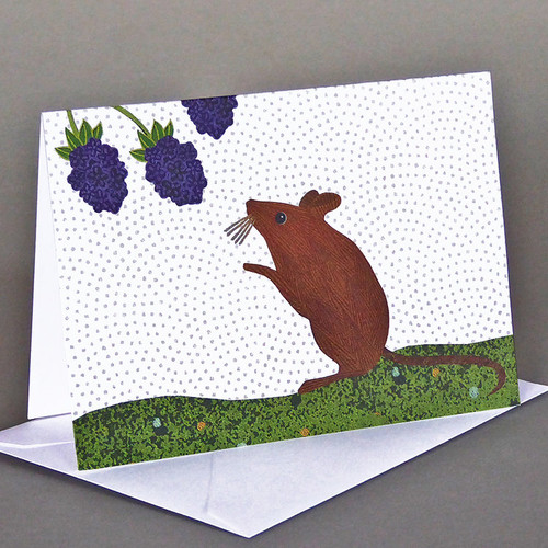 Card Mouse with berries  Carve Design