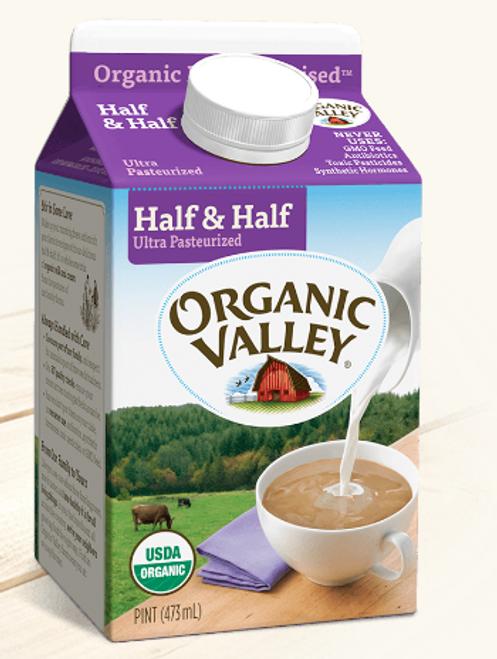 CREAMER - HALF & HALF, Organic Valley, 16 fl oz