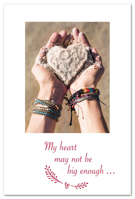 CARD Valentine heart of sand Cardthartic