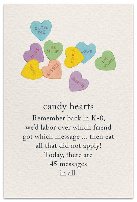 CARD valentine candy hearts  Cardthartic