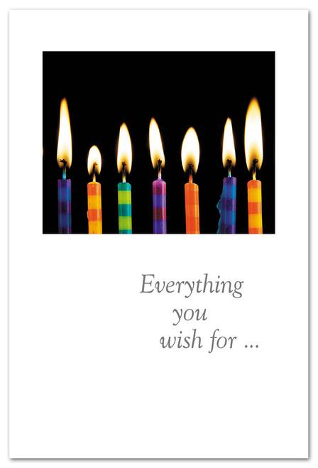 CARD Happy Birthday Birthday Candles in Dark   Cardthartic