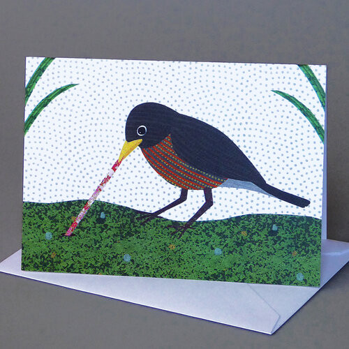 Card Robin with Worm