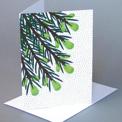 Card Spring Spruce Carve Designs