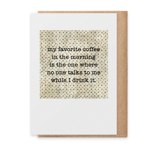 Card  favorite coffee    Paisley & Parsley