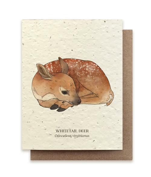 Card, plantable paper, Deer,  The Bower Studio