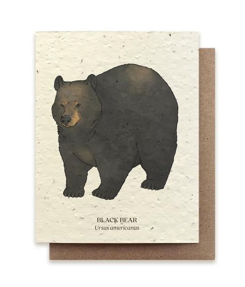 Card, plantable paper,  Bear,  The Bower Studio