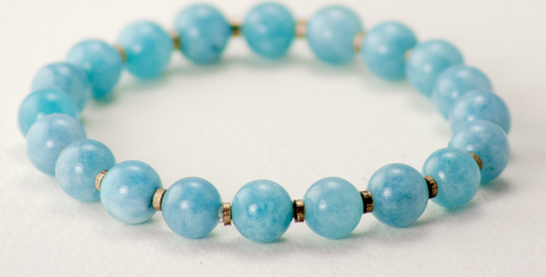 BRACELET:, BLUE CHALCEDONY, Lunar Revolution Big Stone Collection