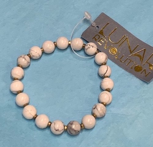 BRACELET: HOWLITE, Lunar Revolution , Big Stone Collection