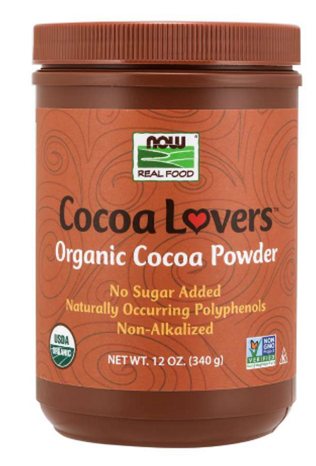 COCOA POWDER, NON-ALKALIZED, Now Foods, 12 oz