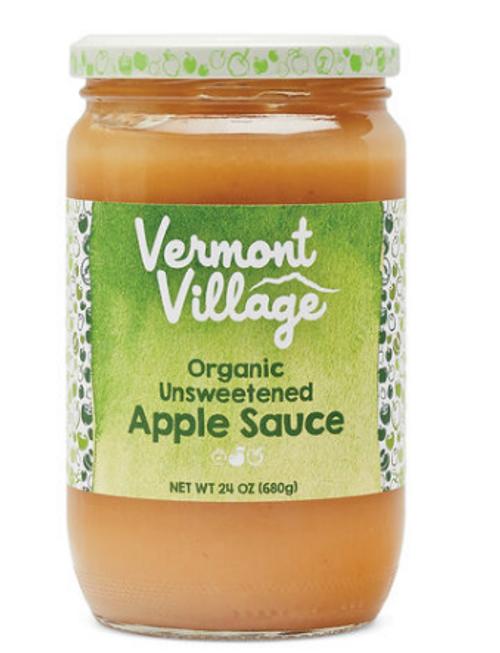 APPLESAUCE, UNSWEETENED, Organic, Vermont Village - 24 oz