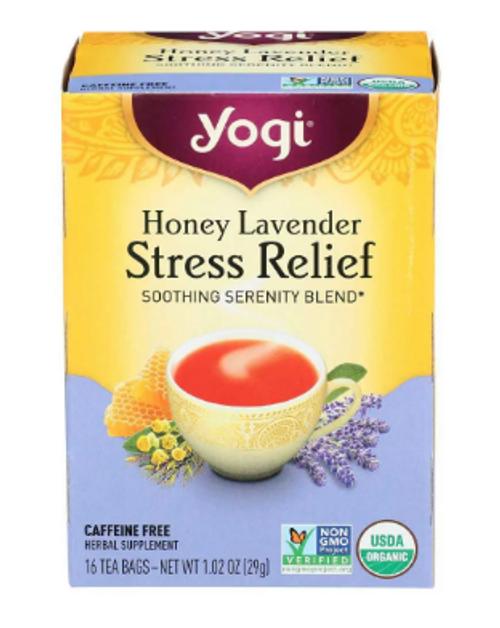 TEA, STRESS RELIEF, Honey Lavender, Yogi - 16 tea bags