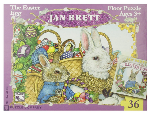 *SALE* PUZZLE, EASTER EGG, JAN BRETT, New York Puzzle Co. - 36 Piece Jigsaw Puzzle