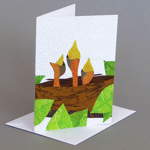 CARD  baby robins   Carve Designs