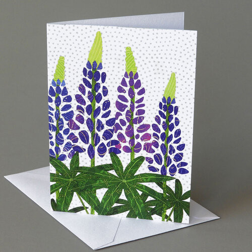 CARD  lupines Carve Designs