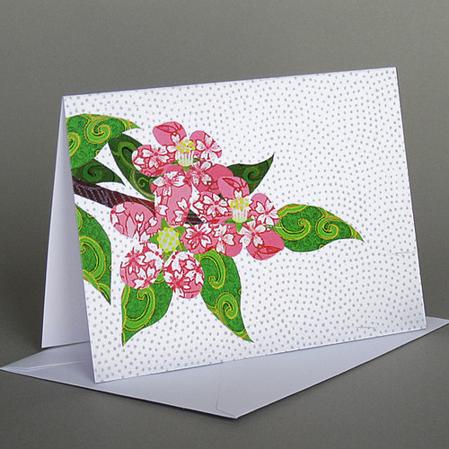 CARD apple blossoms   Carve Designs