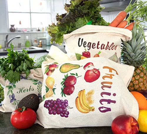 PRODUCE BAGS, Assorted Sizes, Organic, Locally Made, each
