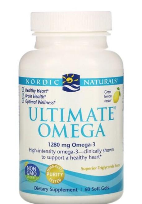 ULTIMATE OMEGA 1280 mg Omega-3, Nordic Naturals - 60 soft gels