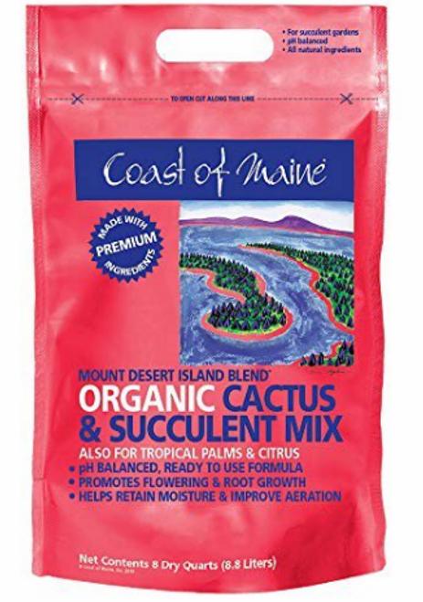 SOIL, CACTUS & SUCCULENT MIX, Mt Desert Island, 8 quarts