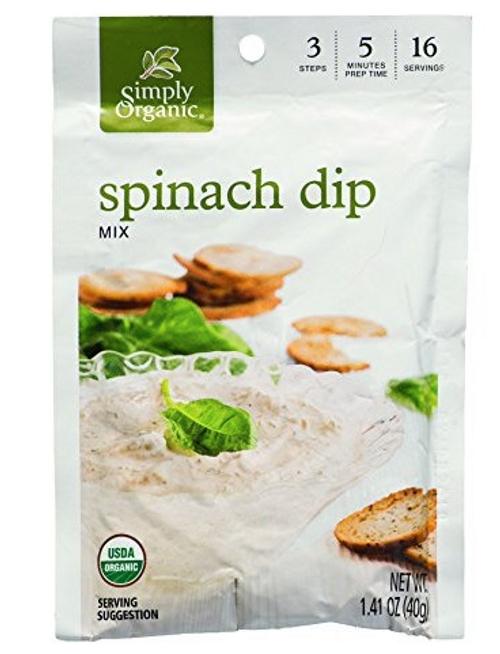DIP MIX, SPINACH, Simply Organic - 1.41 oz dry mix