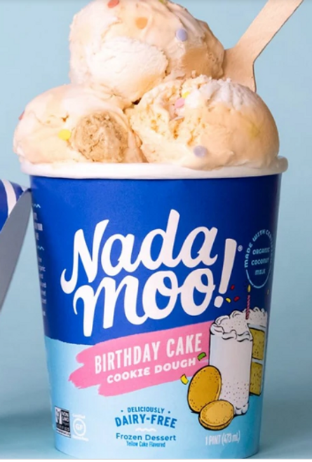 DAIRY-FREE ICE CREAM, BIRTHDAY CAKE, ORGANIC, 1 PINT