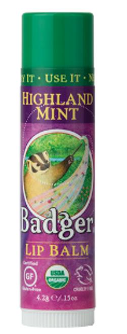 LIP BALM, HIGHLAND MINT, Badger, .15 fl oz