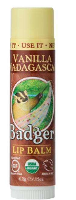 LIP BALM, MADAGASCAR VANILLA, Badger, .15 fl oz