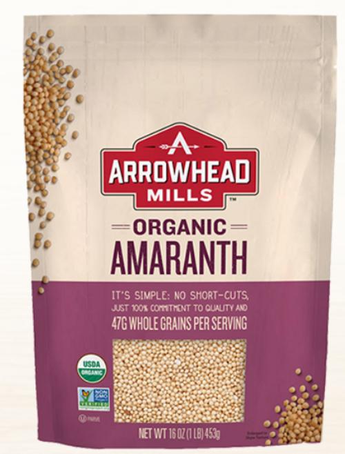 AMARANTH WHOLE GRAIN, ORGANIC, G/F, Arrowhead Mills - 16 oz