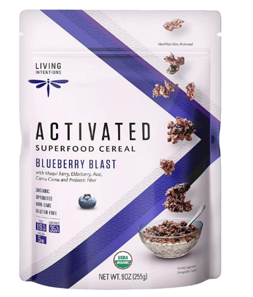 CEREAL, SUPERFOOD BLUEBERRY BLAST, Organic G/F, Living Intentions - 9 oz