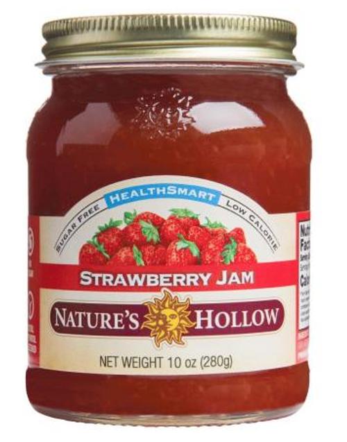 JAM, STRAWBERRY, Sugar-Free, Nature's Hollow - 10 oz glass jar