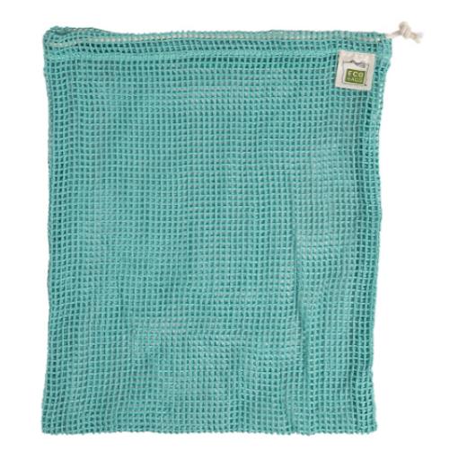 BAG, ORGANIC COTTON PRO-804-WBL, EcoBags - 10 x 12 inch MESH BLUE