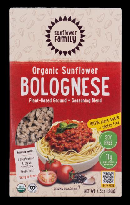 BOLOGNESE, PLANT-BASED, ORGANIC, Sunflower Family - 4 (4.6 OZ) SERVINGS