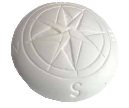 SOAPSTONE PAPERWEIGHT, COMPASS DESIGN, Global Crafts