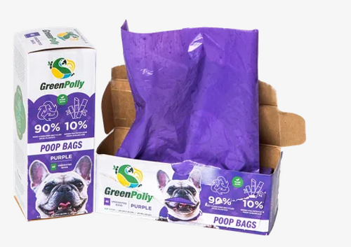 PET WASTE (POOP) BAGS- Unscented- Purple, GREEN PE, 45 count